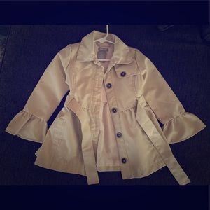 Girls rain jacket. Never worn